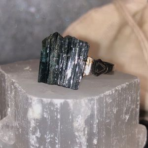 Handmade Tourmaline crystal ring